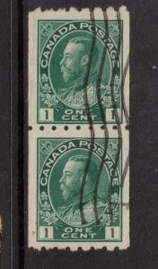 Canada #123 VF Used Coil Pair