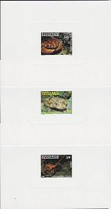 FRENCH POLYNESIA 1987 Marine life set of 3 deluxe proofs....................4066