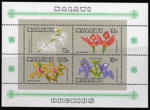 MALAWI, 117A, MNH, SS OF 4 , ORCHIDS