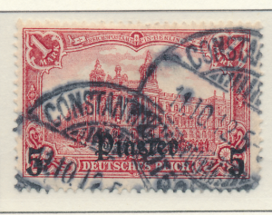 Germany, Offices In Turkey Stamp Scott #51, Used, Multiple Constantinople Can...