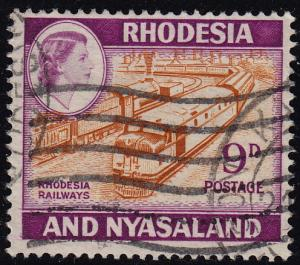 Rhodesia and Nyasaland - 1962 - Scott #164A - used - Train