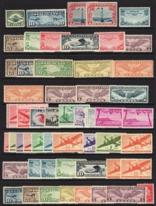 U.S Airmail collection singles, sets, coils, booklets MNH MLH