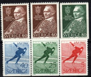 Sweden #693-5, 696-8  F-VF Unused CV $2.80 (X5717)