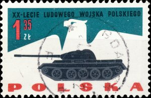 POLAND / POLEN - 1963 Mi.1429 1.35Zl 20yrs People's Army - VF Used (b)