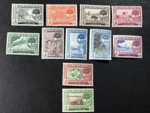 MALAYA/MALACCA # 56-66 -MINT NEVER/HINGED-COMPLETE SET--------1960