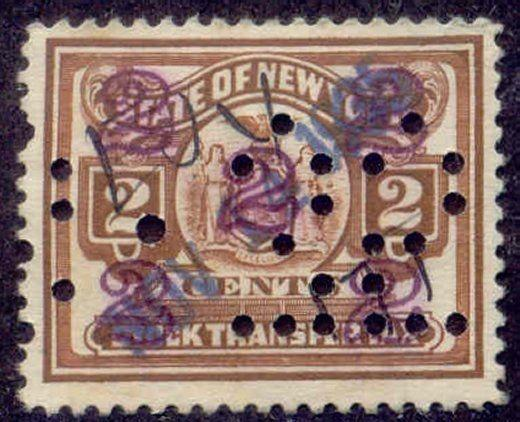 New York State Revenue Stamp 2c Stock Transfer Tax # ST97