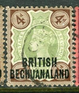 BECHUANALAND; 1891 early classic QV issue fine used 4d. value