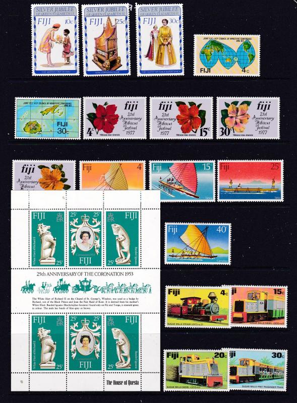 Fiji a MH lot with sets