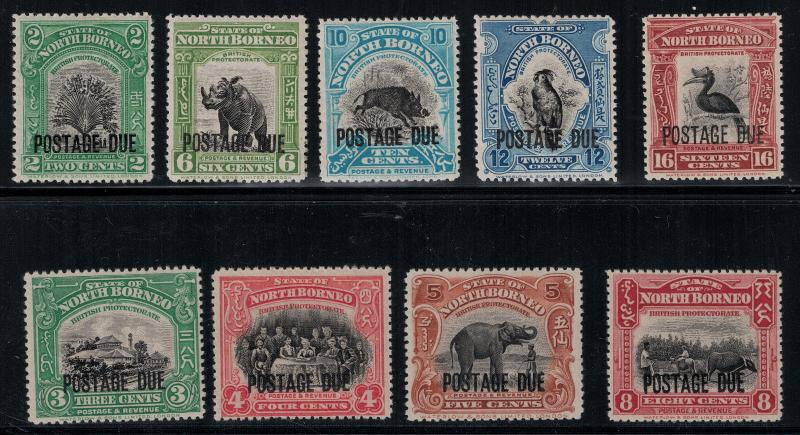 North Borneo 1921-1931 J32-J40 Set LH CV$174.50