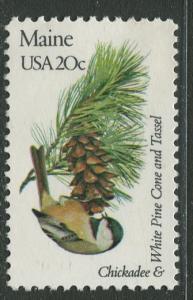 USA - Scott 1971 - State Birds & Flowers - 1982 - MNG - Single 20c Stamp