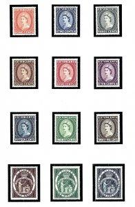 St Vincent 186-97 MNH 1955 Definitive Set       (KA)