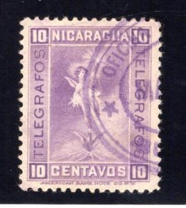 RH#77,H77, Type 18, 10c reddish violet (shades), Used - Nicaragua Telegraph...