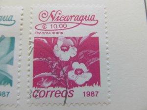 Nicaragua 1987 Flower 10cor fine used stamp A11P11F81