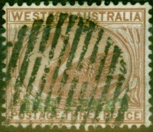 Western Australia 1893 1d on 3d Pale Brown SG107 Good Used