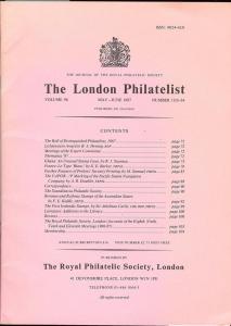 The London Philatelist: Vol. 96, Number 1133-34,