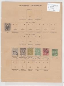 Luxembourg Stamps On 2 Pages Ref: R7277