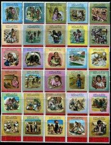 HERRICKSTAMP JORDAN Sc.# 574-74E 1969 Set of 30 (In Strips) Mint NH