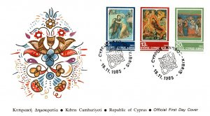 Cyprus, Worldwide First Day Cover, Art