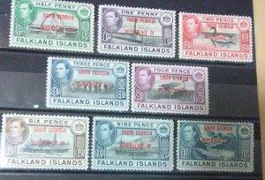 Falkland Islands Dependencies South Georgia  Scott #1-8mnh
