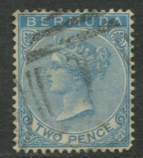 Bermuda - Scott 20 - QV Definitive - Wmk 2 -1883 - VFU -Single 2p  Stamp