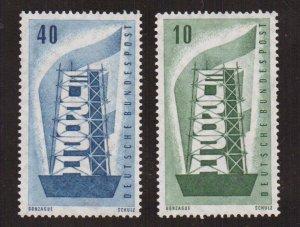 Germany  #748-749  MNH  1956  Europe