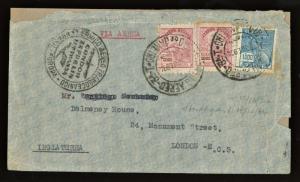 1934 BRAZIL CONDOR ZEPPELIN LUFTHANSA TO England