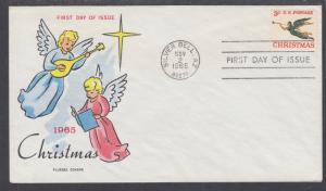 US Mel 1322-15 FDC. 1966 Mary Cassatt, Plate Block, Fluegel Color Cachet