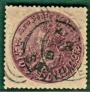 Australia States NSW QV Stamp SG.175 2s Perf 13 (1872) Used FU Cat £70 BLACK357
