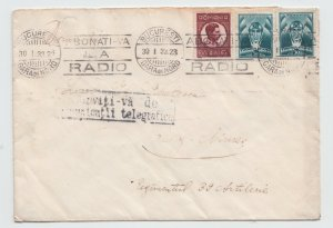 Romania 1933 COVER RADIO MARKING USED Tg. Mures ROYAL POST