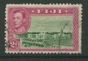 Fiji - Scott 121 - KGVI - Definitive - 1942 - FU - Single 2d Stamp