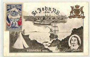 CANADA New Brunswick Discovery Commemorative Postcard {samwells-covers} CG150