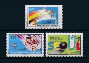 [60918] Turkish Cyprus 1988 Olympic games Seoul Athletics MNH