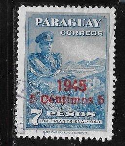 Paraguay 428: 5c on 7p Pres. Higinio Morinigo, Industriy and Agriculture, use...