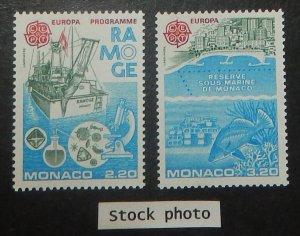 Monaco 1530-31. 1986 Europa, Nature Protection, NH