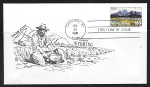 United States 2444 Wyoming Statehood RICH Cachet First Day Cover FDC (z7)