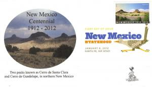New Mexico Centennial First Day Cover, w/ DCP cancel,  #2
