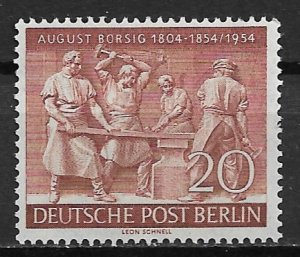 1954 Berlin 9N112 Early Forge MNH