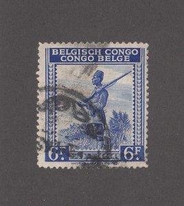 Belgian Congo Scott #222 Used