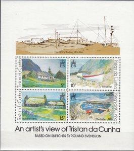 Tristan Da Cunha, Sc 237 (4), MNH, 1978, Sketches by Svensson