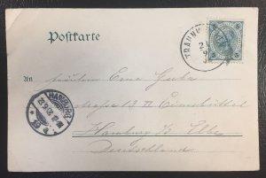 Austria #89a (Mi108) Franz Josef w/Varnish Bars on Post Card 9/23/1908 cancel
