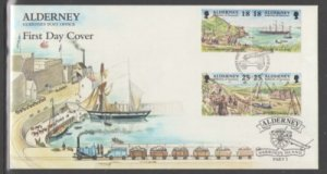 Alderney Sc 106-13 1997 Garrison Island stamp set on FDCs