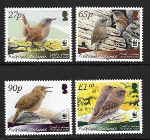 Falkland Islands 2009 WWF Birds Scott 994-997 VF NH Cat US$11