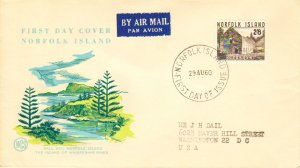 Norfolk Islands Scott 28 Typewritten Address.