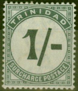 Trinidad 1885 1s Slate-Black SGD9 Fine Mtd Mint