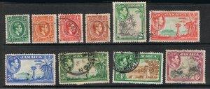 JAMAICA 1938 - 52 KING GEORGE VI