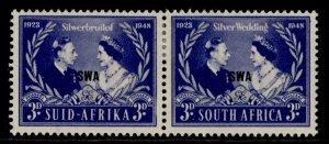 SOUTH WEST AFRICA GVI SG137, 3d blue & silver, M MINT.