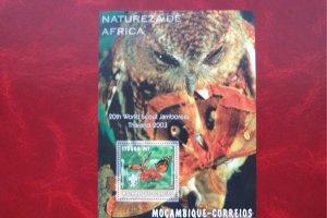 Mozambique 2003 MNH Fauna Birds Butterflies