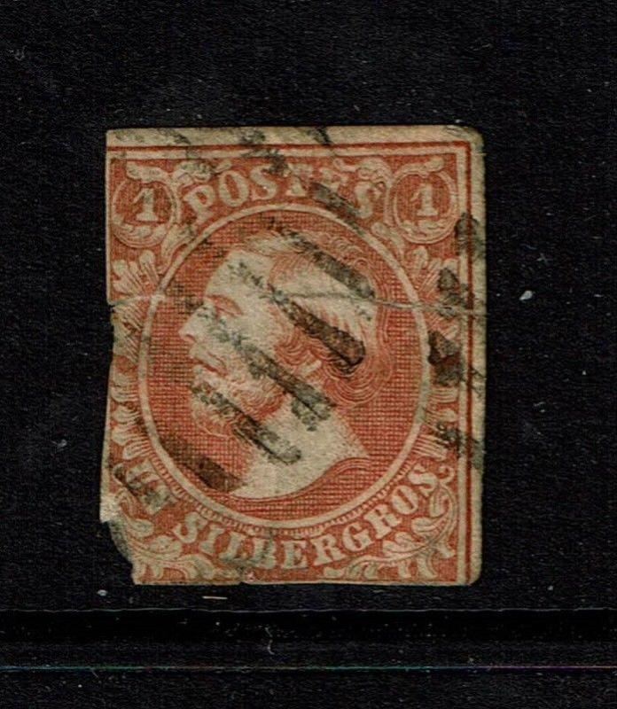 Luxembourg SC# 2, Used, mixed cond, repaired, cut in half, edge tears - S4007