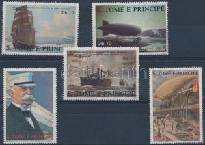 Sao Tomé e Príncipe stamp Ferdinand Graf von Zeppelin set MNH 1988 WS171547