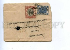 196272 INDIA JAIPUR 1945 year real posted stamped cover